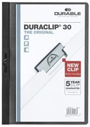 KLEMMAP DURABLE 2200 A4 PL/TR 3MM ZWART -KLEMMAPPEN 220001 MAPPENMETKLEM