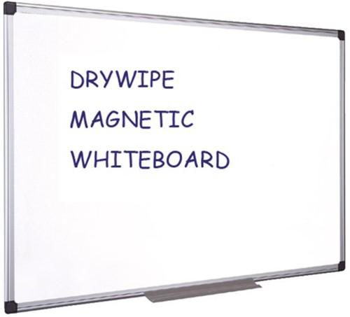 WHITEBOARD QUANTORE 45X60CM GELAKT -HUISMERK PRESENTATIETOEBEH. MA0207170 WANDRAILSYSTEME
