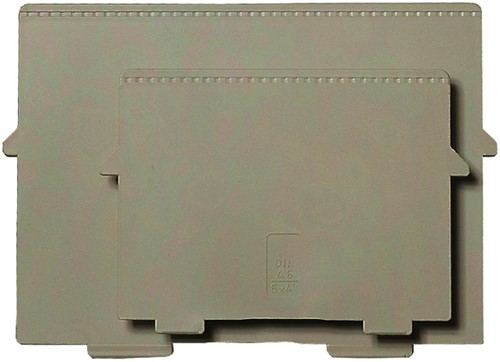 Scheidingsplaat exacompta kaartenbak a6 -K4240d 54240D Dwars grijs