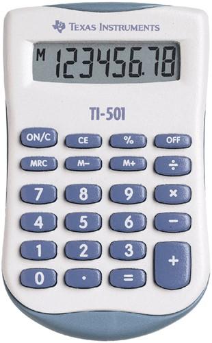 REKENMACHINE TEXAS TI-501 -BUREAUREKENMACHINES 501/FBL/11E1 REKENMACHINE TI501