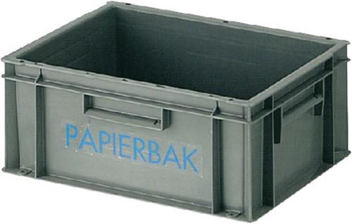 Papierverzamelbak kunststof -P713631003723 8713631003723 40x30x17.5cm grijs