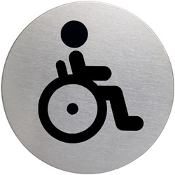 INFOBORD PICTOGRAM DURABLE WC INVALDE -PICTOGRAMMEN 490623 ROND 83MM