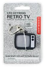 TV STATIC LED KEYCHAIN CARDED/CDU 1 ST