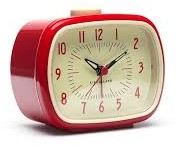 RETRO ALARM CLOCK + RED 1 ST